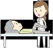 国家資格のあるマッサージ師が訪問してマッサージを施術します